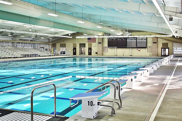 pool and bleachers
