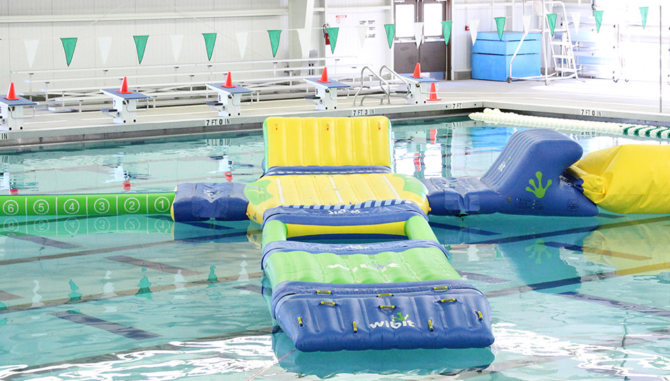 Inflatable games on a pool
